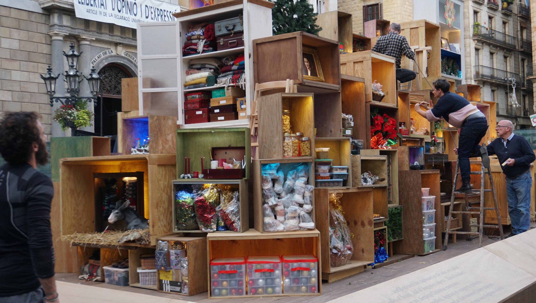 Pessebre de plaça Sant Jaume 2019