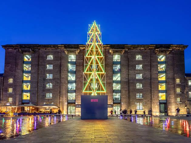 Christmas Tree by David Batchelor, Granary Square, King's Cross