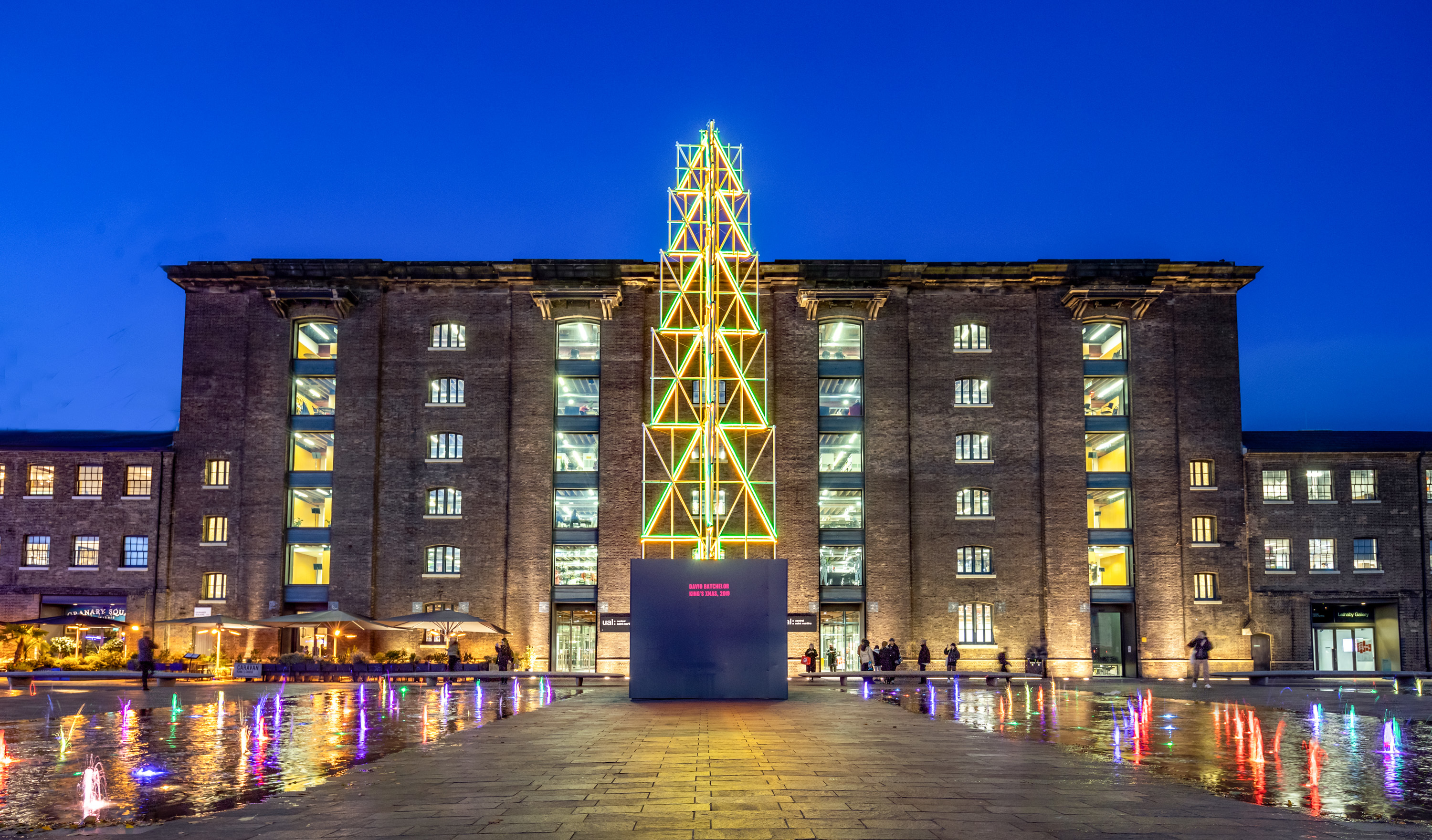 Christmas Tree by David Batchelor, Granary Square, King's Cross
