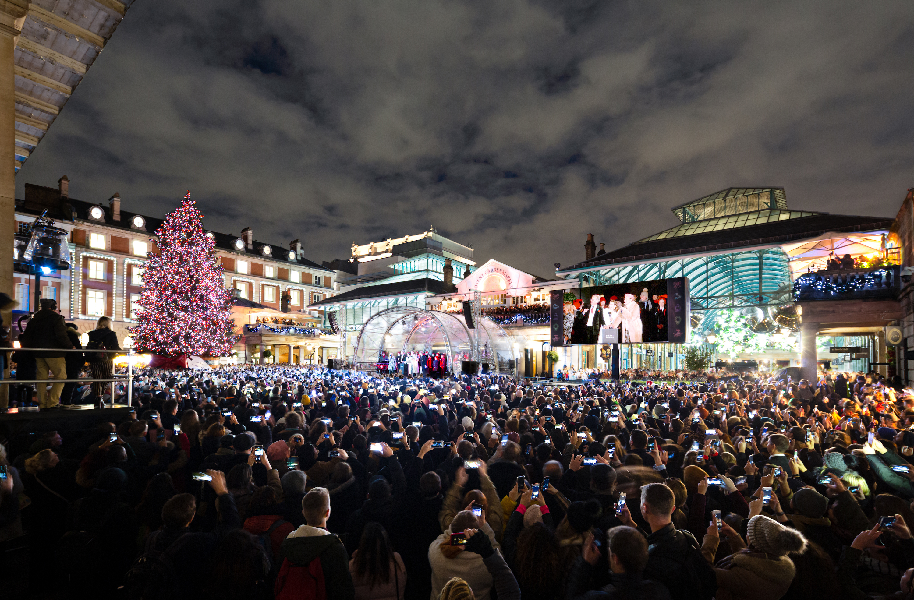 Covent Garden Christmas Switch-on 2019