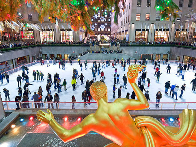 Ice skating spots in NYC