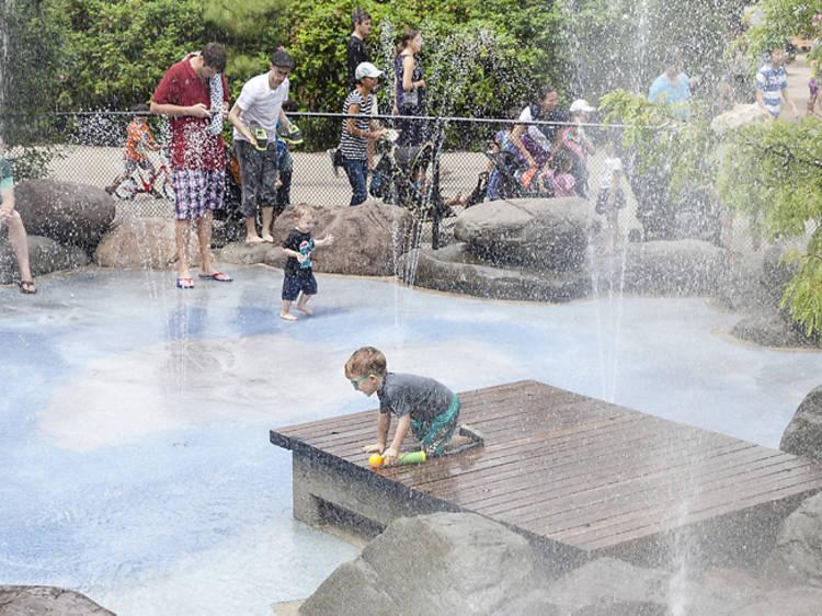 Splash parks in NYC