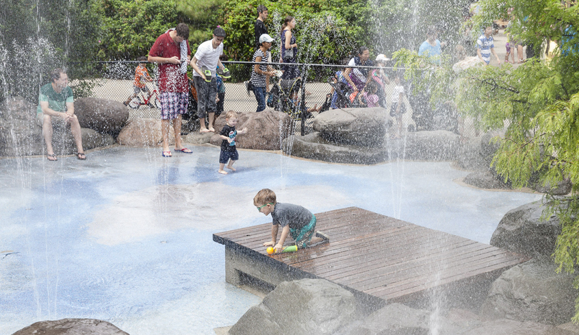 Splash parks in NYC