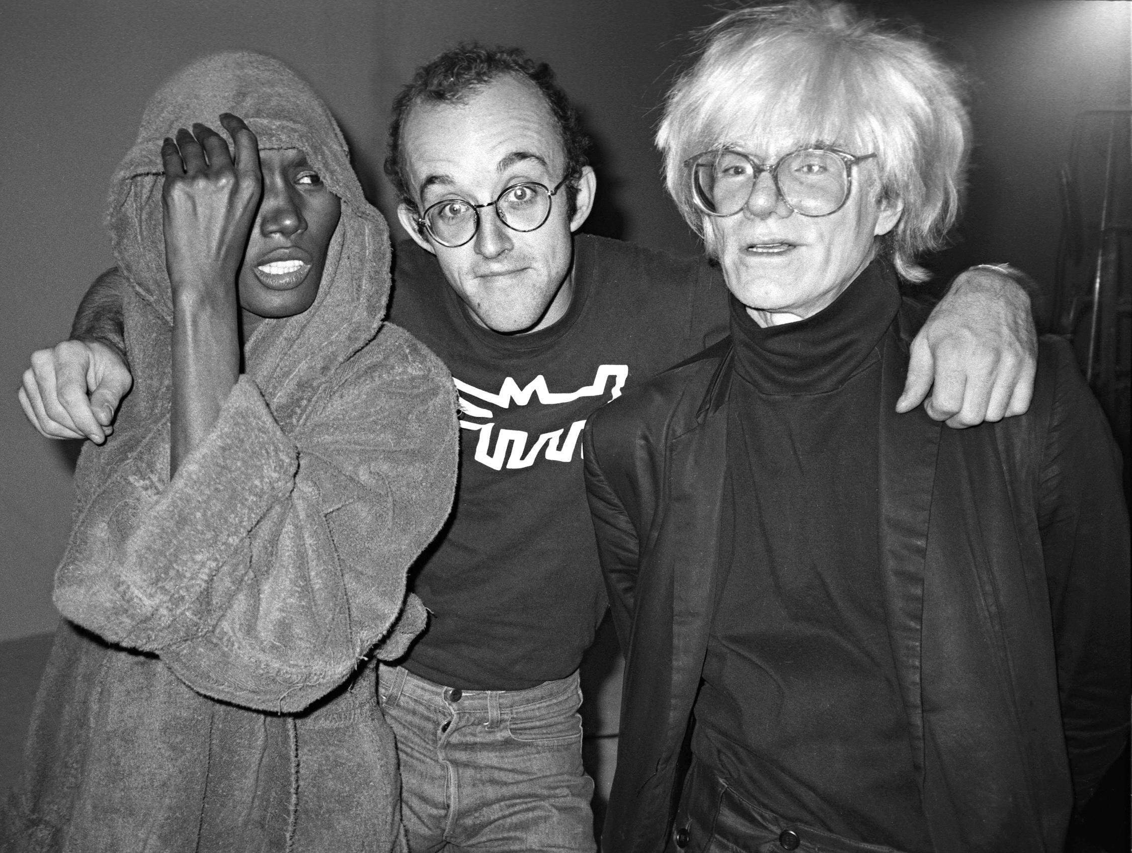 Grace Jones, Keith Haring, Andy Warhol at Paradise Garage, New York, 1983