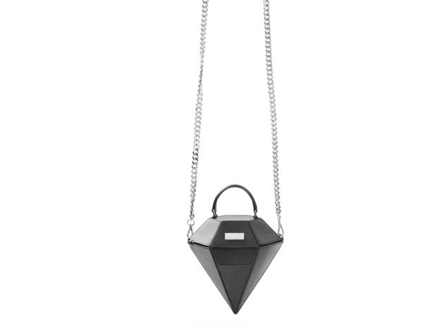 Bolso con forma de diamante David Locco