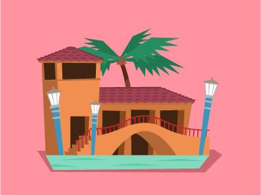 Une piscine: la Venetian Pool