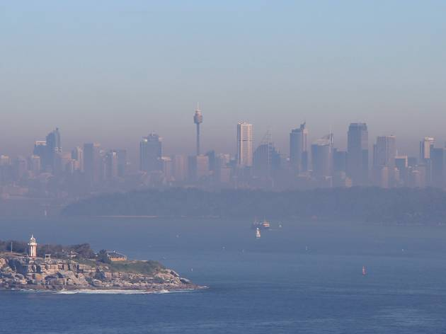 Smokey City over Sydney Harbour
