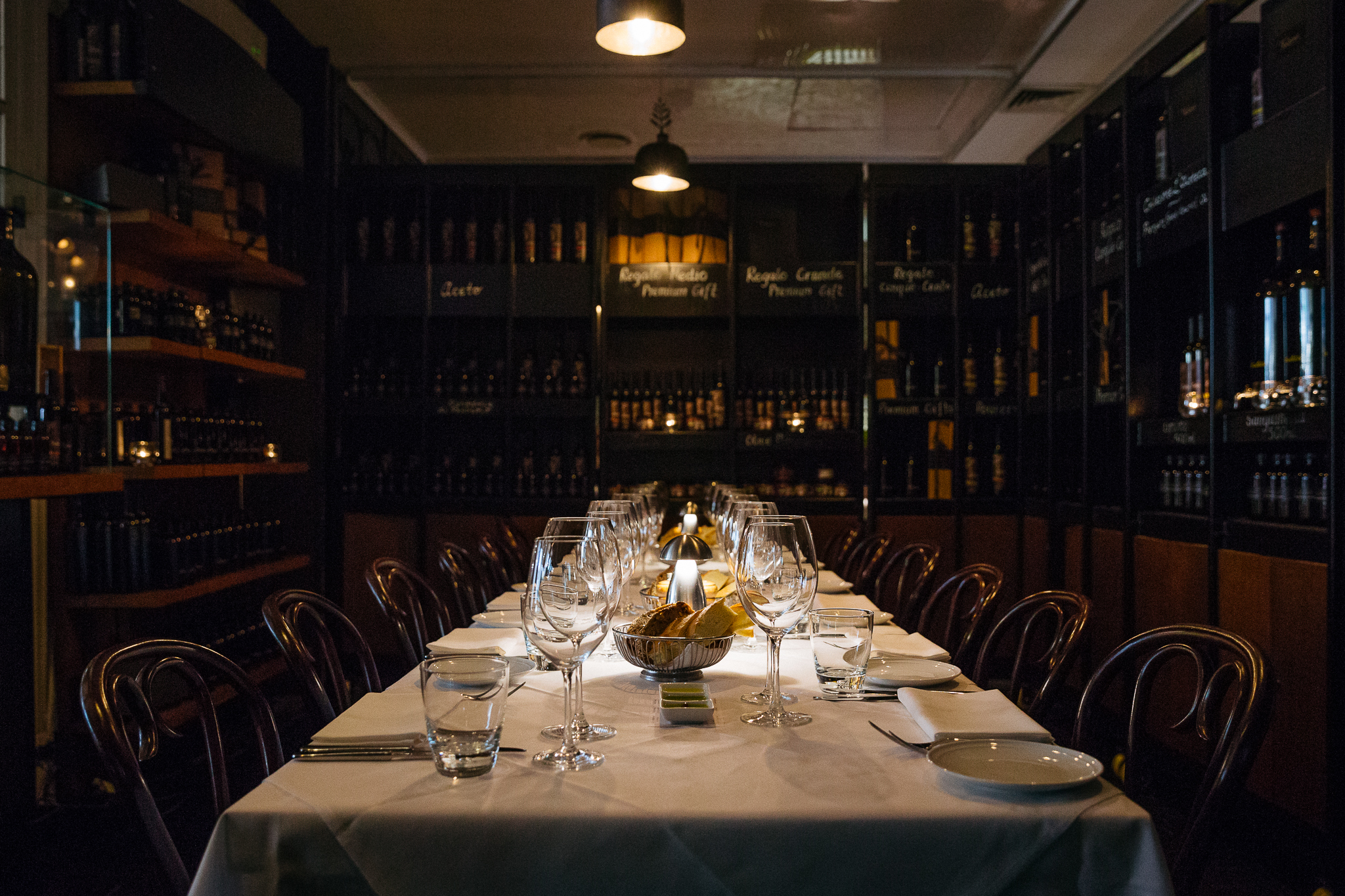 The private dining room at Pendolino
