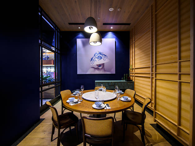Private dining room at Lotus the Galeries