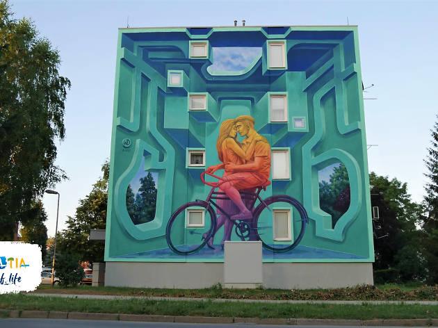 Explore the street art of Slavonia