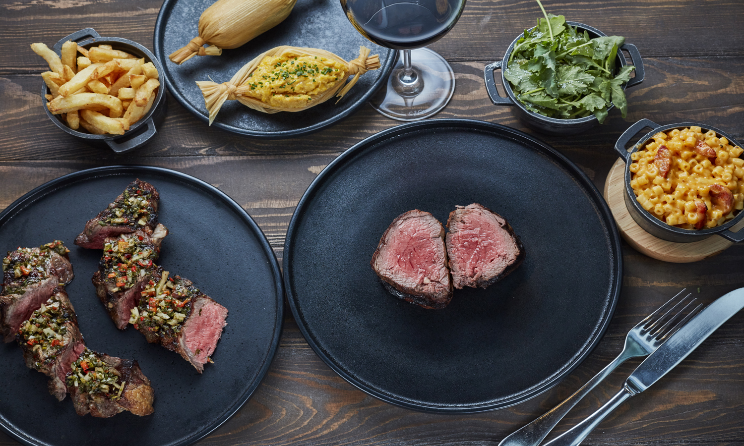 60% off a three-course steak dinner with free flowing prosecco at Gaucho
