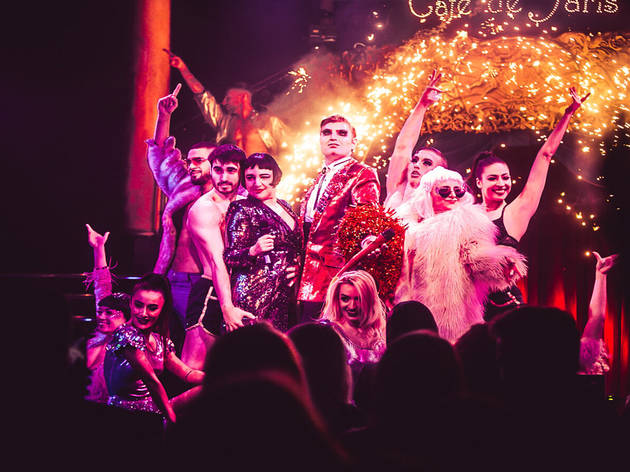 Save 23% on a cabaret show and meal for two at Café de Paris