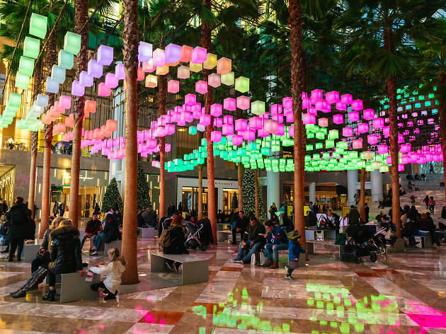 A mesmerizing holiday light installation opens at Brookfield Place tonight