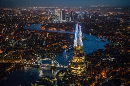 The Shard Christmas lights will illuminate the skyline from Monday