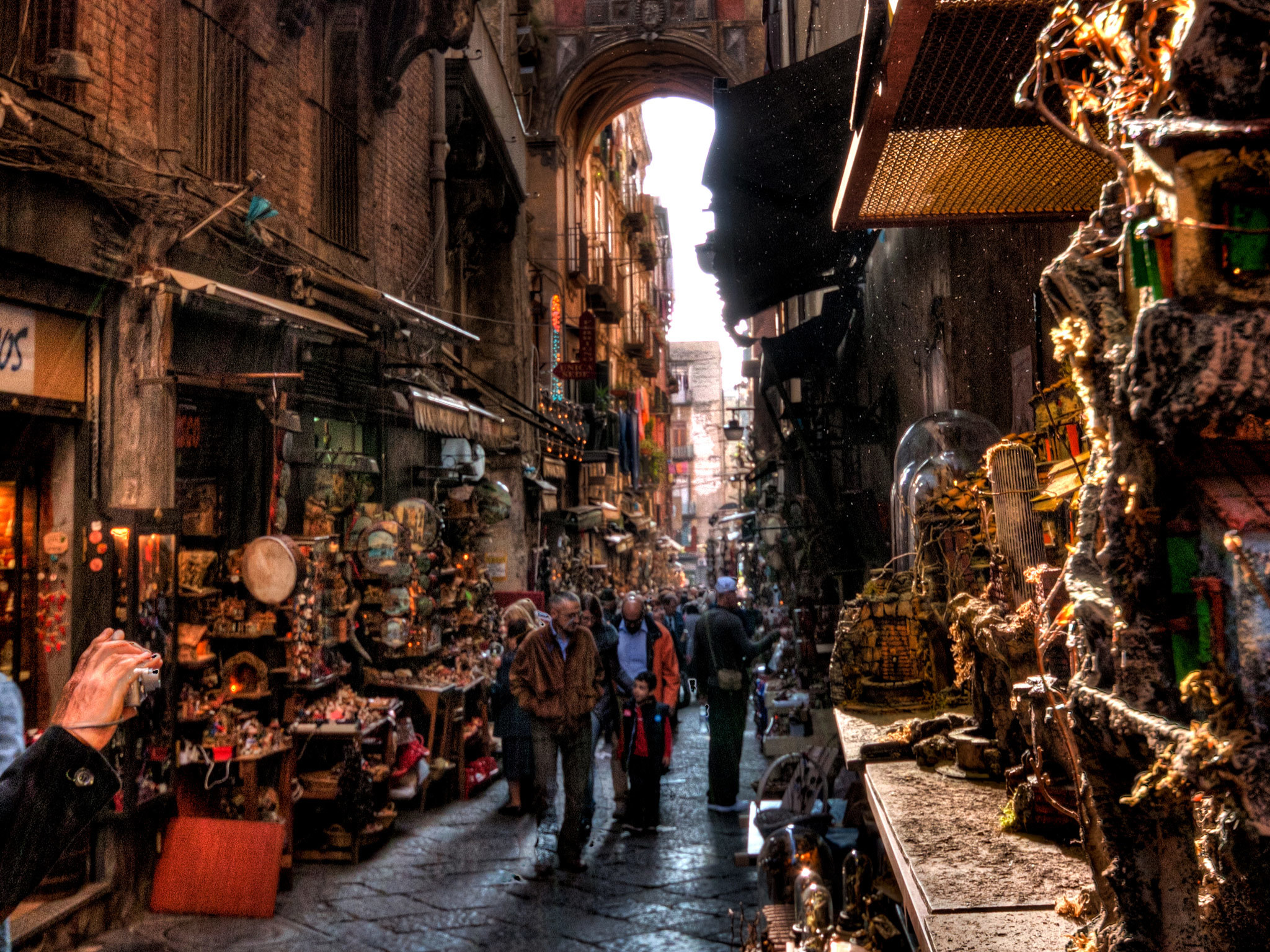 Via San Gregorio Armeno in Naples