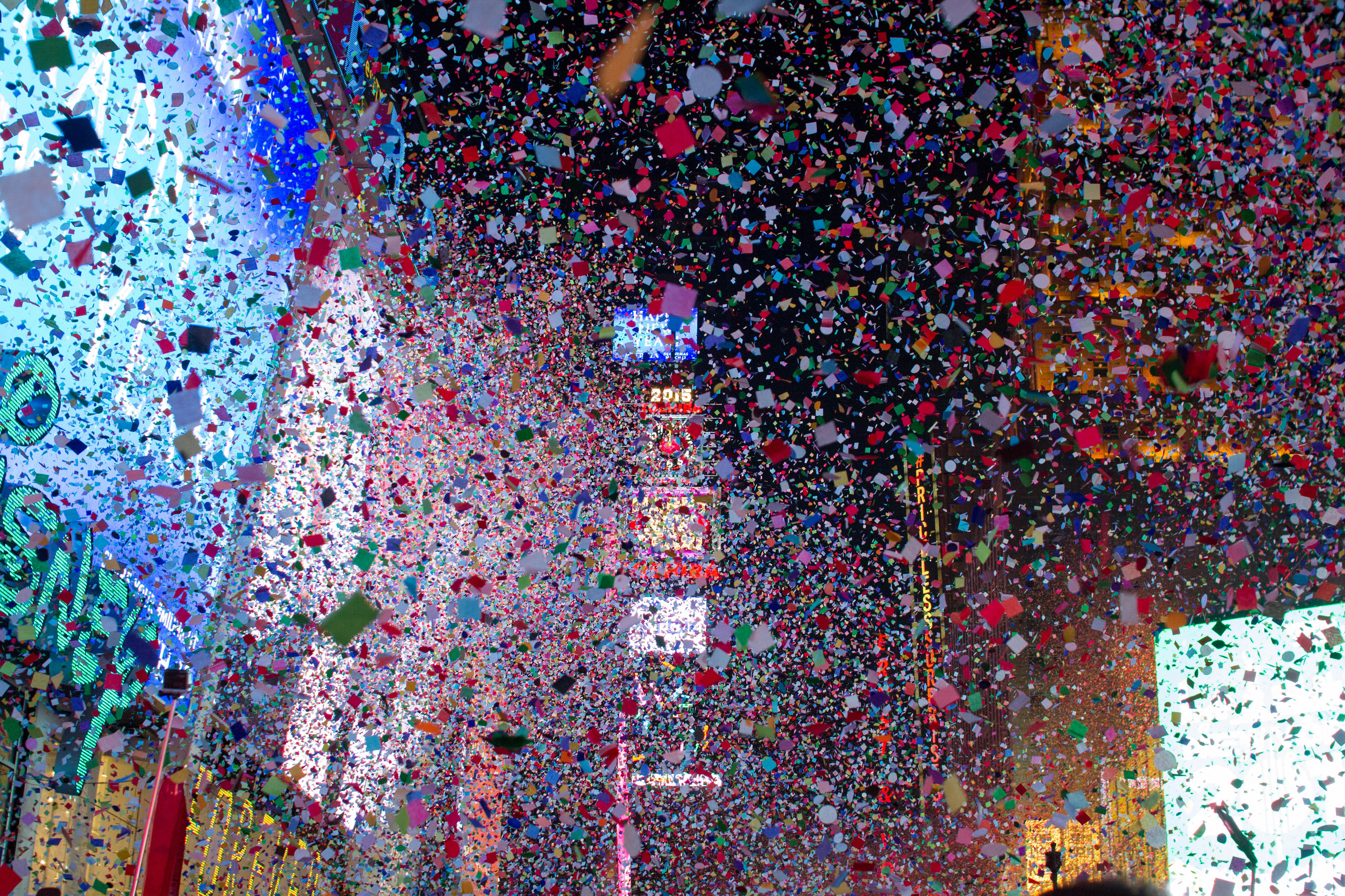 Have your wish rain down with the confetti in Times Square on New Year's Eve