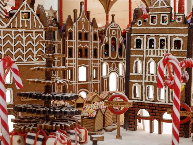 Central London has become sugary sweet at this year's 'Gingerbread City'
