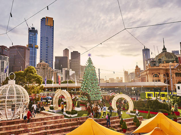 Christmas festivities in Melbourne