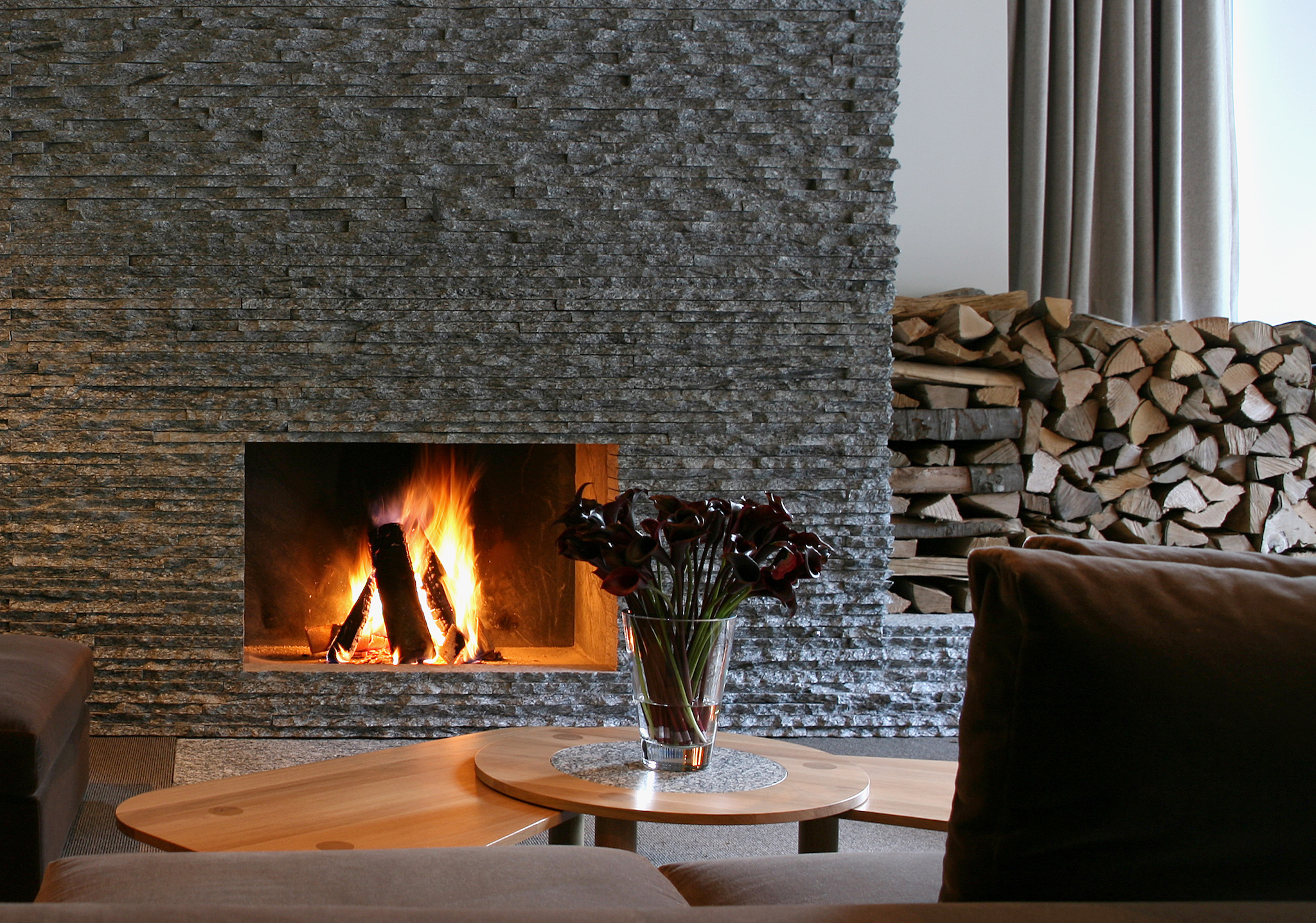 The Omnia, fireplace