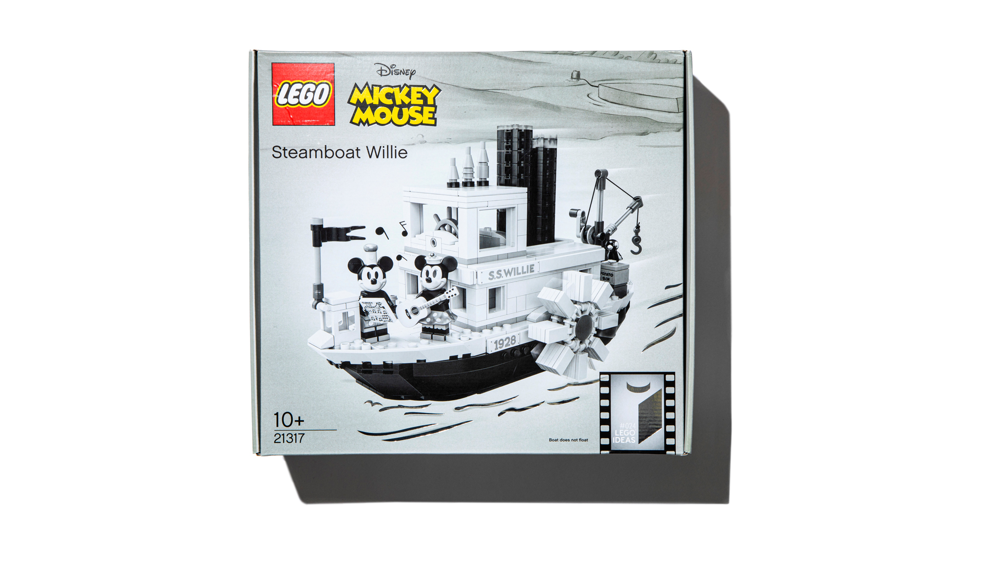 'Steamboat Willie' Lego featuring Mickey Mouse