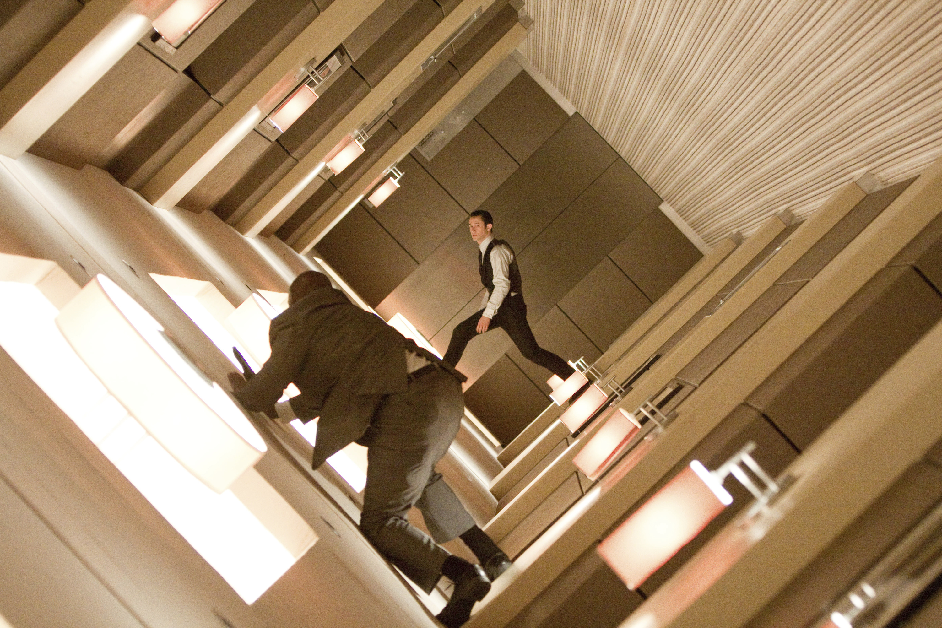 Inception, Joseph Gordon-Levitt and Leonardo DiCaprio