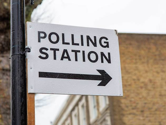 Polling station in London 2019