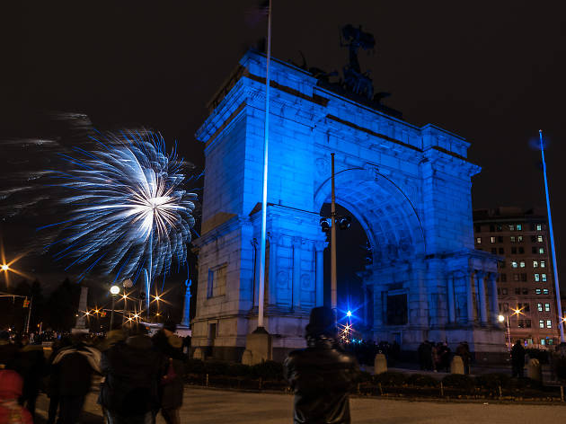 Fireworks at Grand Army Plaza