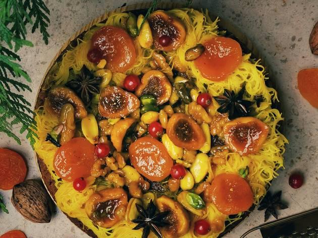 Bolo de especiarias e frutos secos