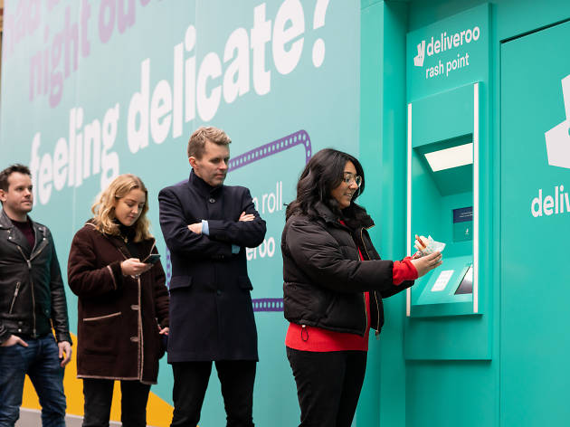 You can pick up a free bacon sarnie from this ATM tomorrow