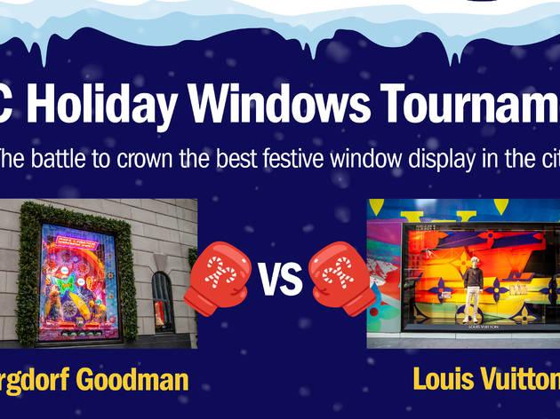 NYC Holiday Windows Tournament Round Two: Bergdorf Goodman vs. Louis Vuitton