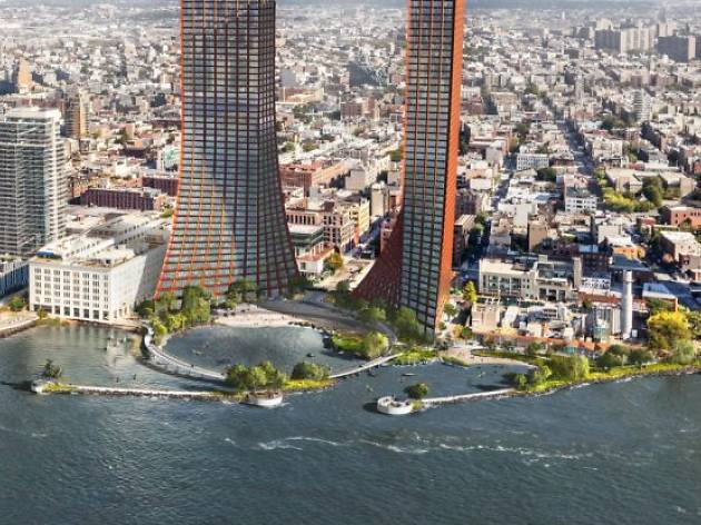 Two 600-foot towers could be sprouting up on the Williamsburg waterfront