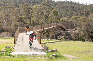 Two riders take on the Thredbo Valley Bike Track