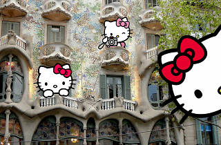 Hello Kitty i la Casa Batlló