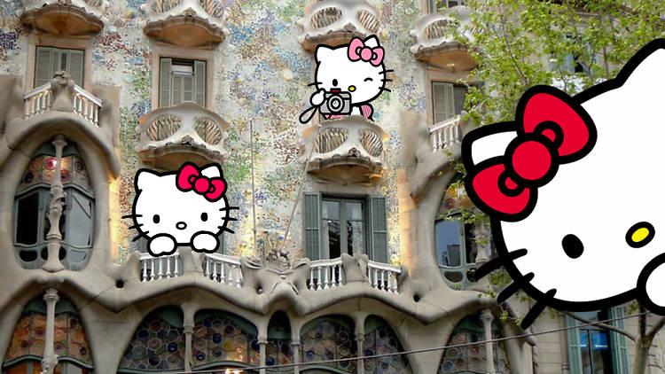 Hello Kitty i la Casa Batlló