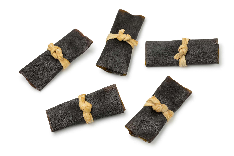 Traditional dried kelp rolls
