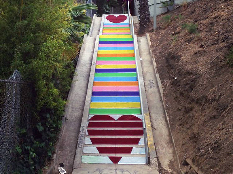 Hike the Silver Lake stairs
