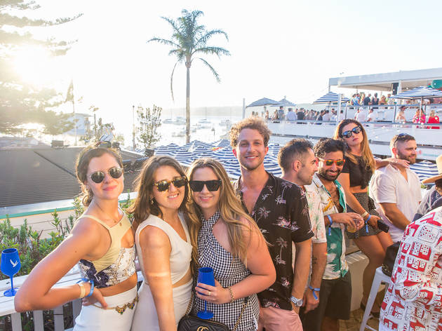 People drinking at Watsons Bay Boutique Hotel
