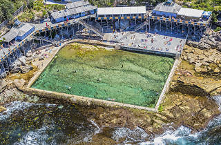 Aerial view of Wylie's Baths in Coogee