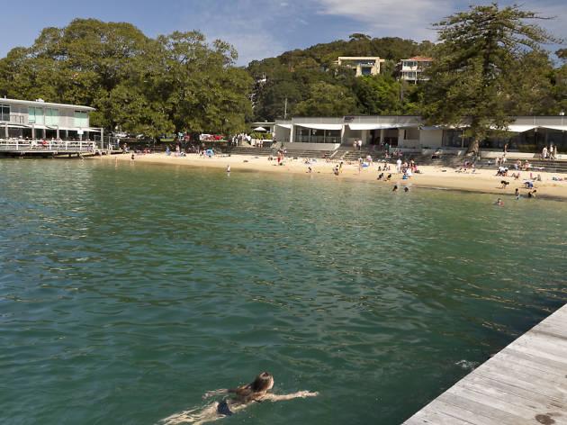 Visitors enjoying Balmoral Beach