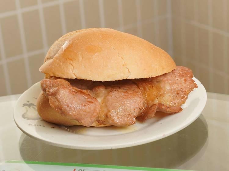 豬扒包:肉汁豐盈