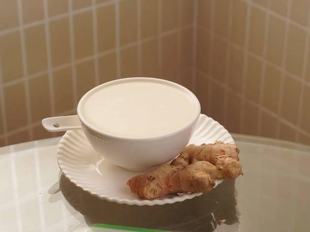 ginger juice milk curd