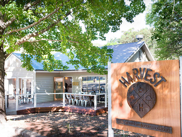 Exterior of Harvest Cafe Halls Gap