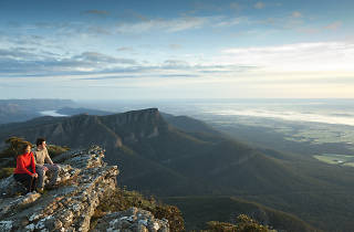 View over mountains in Grampians