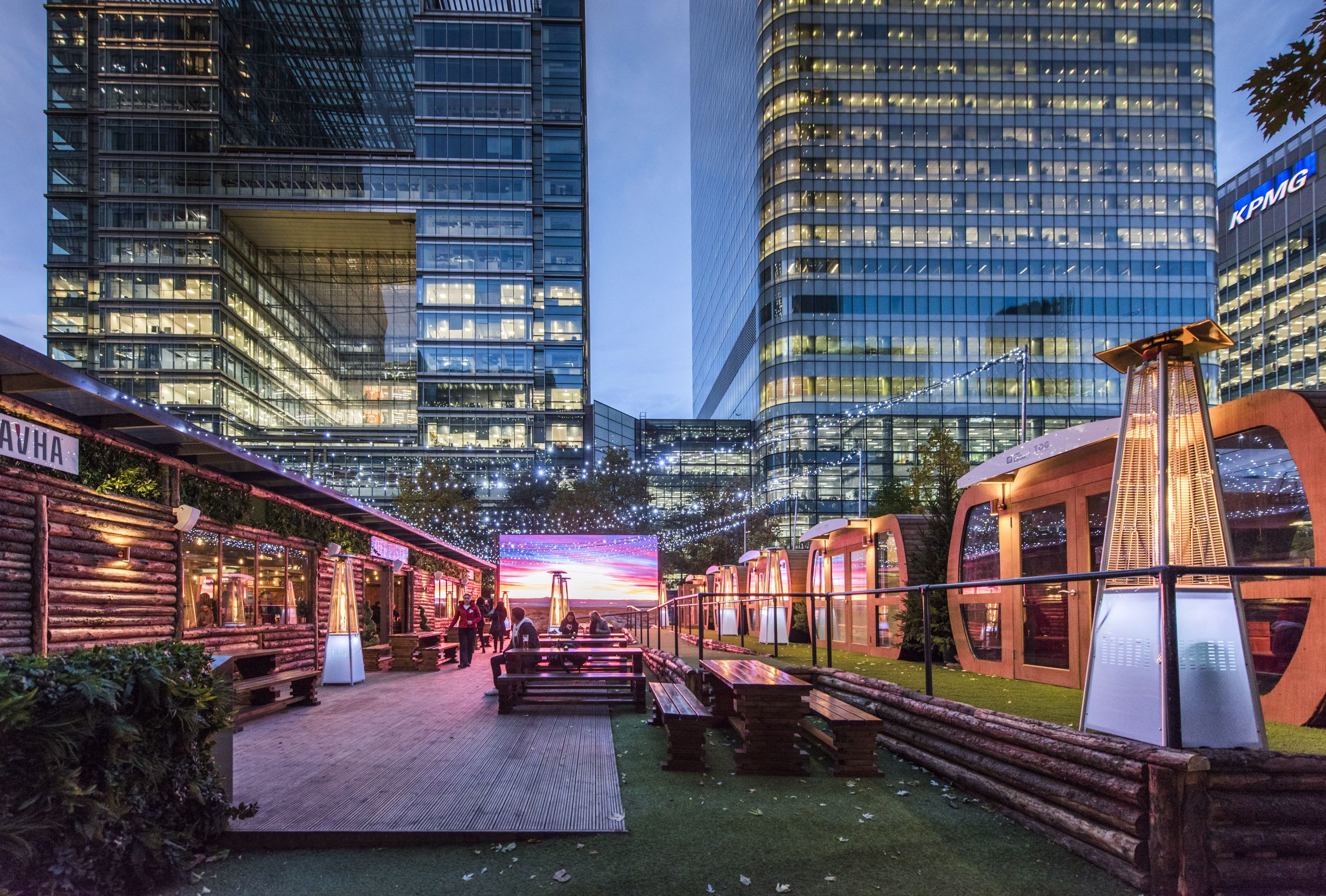 Off Piste Winter Bar Canada Square Park Things To Do In London