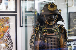 Samurai armour on display at Authentink