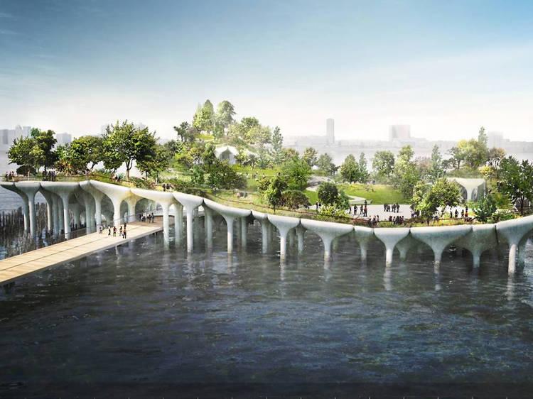 Um parque flutuante
