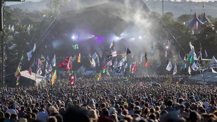 The Pyramid Stage Glastonbury Festival