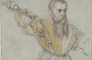 Giuseppe Porta. Bearded Man with his Right Arm Raised, 1562/64.