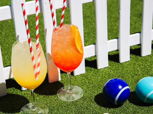 Games and drinks at Summertime Social