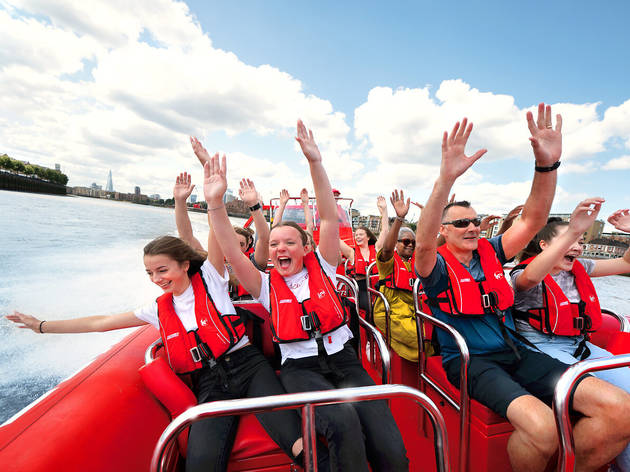 33% off a Thames Rockets: Ultimate London Adventure speedboat tour